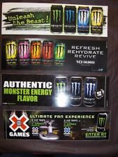 MONSTER BUMPER STICKERS~4-PAK/4 DIFF./X-GAMES,UNLEASH BEAST,REHAB & AUTH. FLAVOR