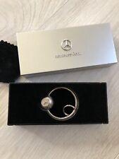 Vintage but NWT Mercedes Benz Logo Ball Key Chain Car Keyring