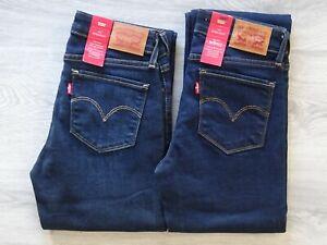 Levi´s Damen Slim Fit Jeanshose 714 Mid Rise Jeans Stretch Hose Damenjeans