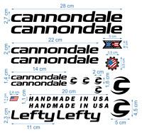 Cannondale Die-Cut Decals Aufkleber Fahrrad Grafik Stickers Adesivi / 626