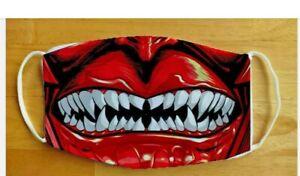 Face Mask Funny Devil Demon Satan Washable Reusable Protection Face Cover UK