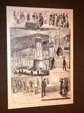 Esposizione elettrica Parigi 1881 Telefoni Opera Gran Faro Telefono portatile