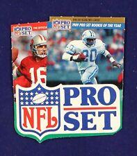 1989 Pro Set Box Ad Barry Sanders Roy Joe Montana
