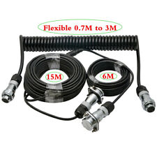 24m towing trailer cable suzy coil 4 pin connector for caravan reverse  camera