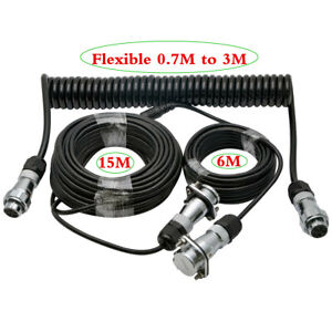 24M Towing Trailer Cable Suzy Coil 4 PIN Connector for Caravan Reverse Camera AU