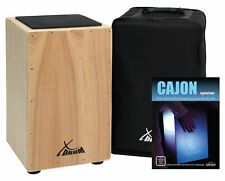 Cajon Percussion Hand Drum Wooden Box Instrument Tunable Snare Black Gigbag