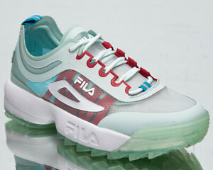 Fila Disruptor Run CB Women's Soothing Sea White Chunky Lifestyle Sneakers Shoes