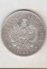 ARGENTINA SILVER COIN 50 Centavos 1883 Patacon Great
