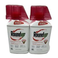 Roundup Weed & Grass Killer Concentrate Plus, 32 oz Lot of 2
