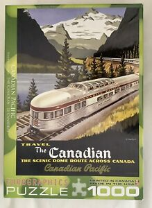 The Canadian Pacific Train Eurographics 1000 Piece Jigsaw Puzzle Used, Complete