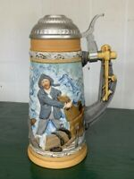 Norman Rockwell - Braving the Storm Limited Edition Beer Stein
