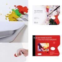 Disposable Artist Tear Off Palette Paper Oil Acrylic Sheets Tear-Off Paint Q6C7