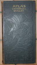 Ancien atlas universel quillet le monde francais 1923
