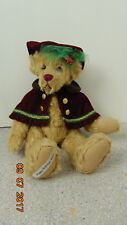"""GALLERY TEDDY BEARS 15"""" HOLIDAY CHRISTMAS TEDDY BEAR WITH HAT AND CAPE 6818/2001"""