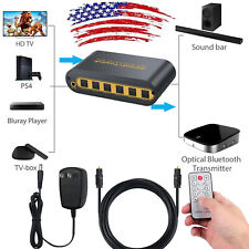 SPDIF/TOSLINK Optical Digital Audio Switcher with Optical Cable NEW 4x2 Switch