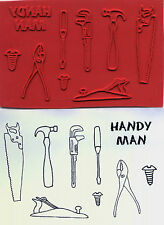 unmounted rubber stamps   Handyman Tools collection     9 images