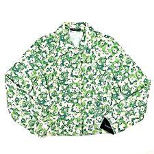Liz Claiborne Womens Button Down Blazer Jacket Cotton Floral Size 12 Large NWT
