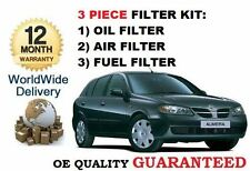 FOR NISSAN ALMERA & TINO 2.2DT 2000-2006 SERVICE SET OIL AIR FUEL 3 FILTER KIT