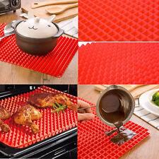 Pyramid Pan Non Stick Fat Reducing Silicone Mat Oven Baking Tray Sheets