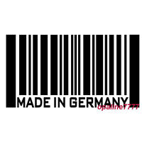 STICKER AUTOCOLLANT  MADE IN GERMANY POUR BMW  GOLF AUDI code barre