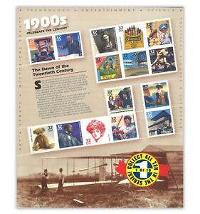 USA 1998 Celebrate the Century 1900s No.1 In A Series of Ten Sheets Stamps MUH