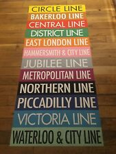 "London Destination Bus Blind 34"" X 78""- All London Underground Tube Train Lines"