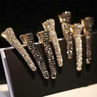 Shine Women Crystal Rhinestone Pearl Hair Clip Spring Princess Hair Accessory