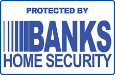 SECURITY SIGN - 1 Banks Security Systems - Blue #PS-413