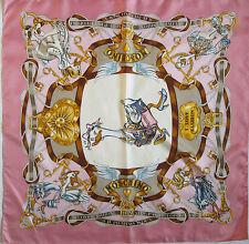 -Authentique Foulard MOSCHINO 100% soie  TBEG vintage scarf
