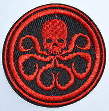 """3"""" Marvel Comics Captain America Hydra Logo Embroidered Iron On/Sew On Patch"""