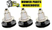 (3) NEW REPL DECK BLADE SPINDLE ASSEMBLY W/PULLEY EXMARK 103-1184 LAZER Z HP 52""