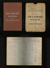 LADD & TILTON BANK  Savings Account Deposit Book Portland Oregon 1909