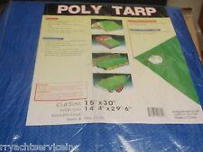 TARP BLUE POLYETHYLENE BOAT STORAGE COVER 136 97171B 15FT X 30FT BOATINGMALL