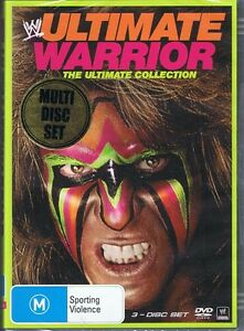 WWE Wrestling ULTIMATE WARRIOR The Ultimate Collection (3 x DVD) NEW & SEALED