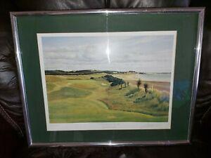 Graeme W. Baxter pencil Signed, Colour, framed & Glazed, Golf Print -Portmarnock