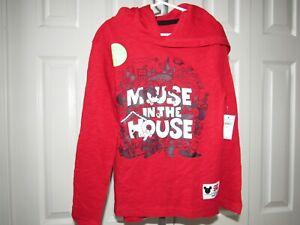 NEW Gap Kids Disney Red Mickey Mouse Hoodie Shirt S 6-7 NWT Boys