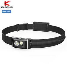 KLARUS HR1 Plus 600 Lumen CREE LED Running Rechargeable Headlamp Flashlight +Red