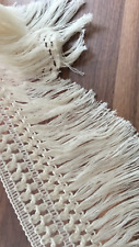 Cream 12cm Trim Tassel Fringe Cotton Lace Ribbon Price per 30cm DIY Craft