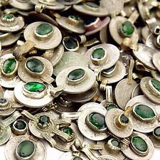 20 real Jeweled COINS Tribal Belly Dance Kuchi Tribe - GREEN Color