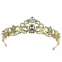 Crystal Tiara Wedding Bride Rhinestone Hair Pageants Pearl Headband Crown Bridal