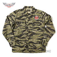 NON STOCK Golden Tiger Camo Shirt Vintage Military Combat Fatigue Uniform Jacket