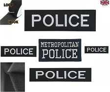 More details for metropolitan police logo embroidered patch hook & loop iron - on uk force patch