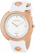 Versace Women's VA7030013 Thea Round Stainless Steel Mother Of Pearl Dial Watch