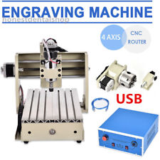 4Axis USB 3020T CNC Router 3D Engraving Drilling Milling Machine Engraver Mill