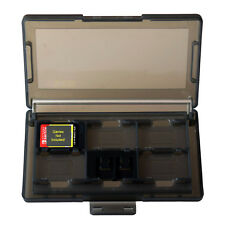 USA NEW Game Card & SD Cartridge Case - 12 Slots Smoke Grey For Nintendo Switch
