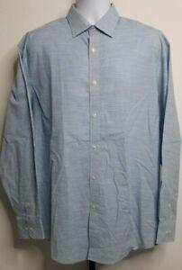 NEW NWT Alan Flusser Light Blue Long Sleeve Casual or Dress Shirt Size L D206