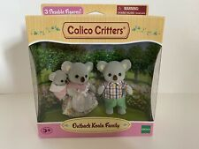 New Calico Critters Outback Koala Family 3 Piece Figures Doll Set-Mom, Dad, Baby