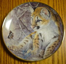 First Encounter Limited Edition Baby Leopard Collector Plate Franklin Mint