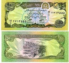 Afghanistan Billet 10 Afghanis 1979 P55 UNC Neuf