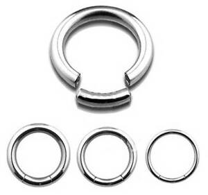 STEEL Segment Ring - Choose Size:  1mm up to 6mm Gauge - 6mm up to 19mm Diameter